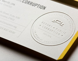Creative Embossed Business Cards3