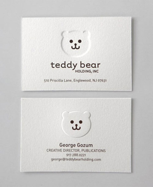 Creative Embossed Business Cards